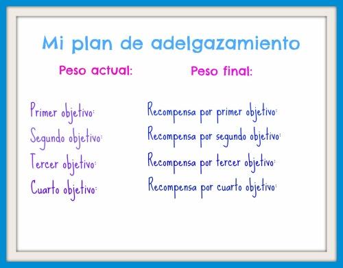 plan de adelgazamiento