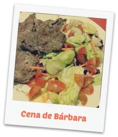 carne y ensalada