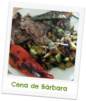 carne y verduras asadas