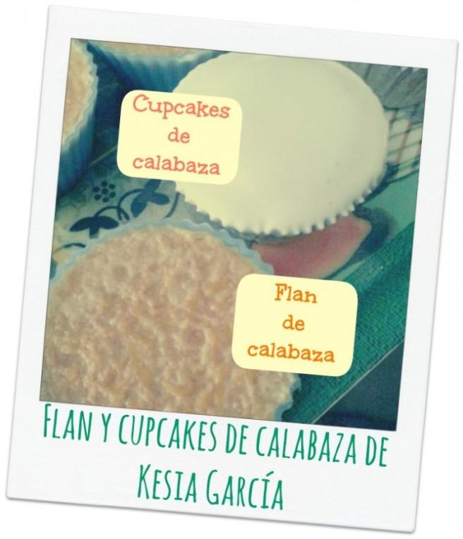 flan y cupcakes