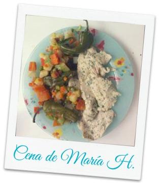 pechuga y verduras