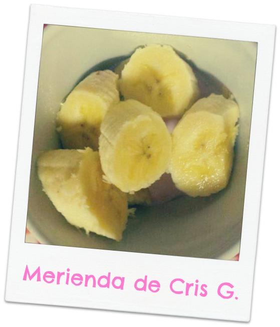 plátano y yogur